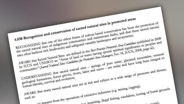 IUCN 2008 Resolution 4.038