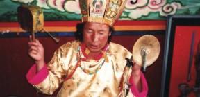 A Musuo Daba shaman, Eastern Kham, Yunnan, China.