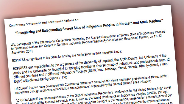 Recognizing and Safeguarding Sacred Sites of Indigenous Peoples in Northern and Arctic Regions